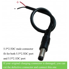 e-bike donwtube battery connector with cable 5.5*2.5DC/5.5x2.5DC connector
