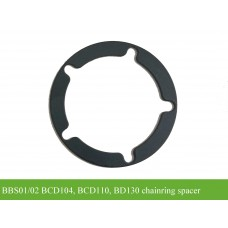 BBS01/BBS02 chainring spacer(1mm thick alloy spacer)
