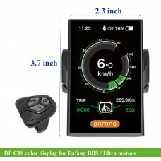 Bafang DP C18 display with 5V USB charging outlet(UART) for BBS/Ultra M620/Max drive M400
