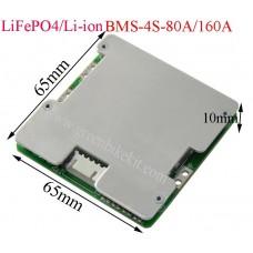 4S 80A/160A lithium 18650 BMS/PCM 12V/12.8V/14.8V for drill motor with balance