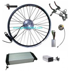 GBK-100F 36V250W~350W e-bike front driving kit with 36V li-ion rear rack battery and charger