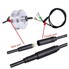 Motor cable with 9 core waterproof connector, male/female for motor