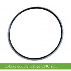Double walled aluminum alloy rim, CNC side