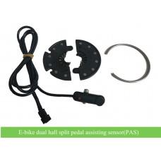e-bike 12 poles dual hall pedelec sensor-split sensor(PAS) for easy installation
