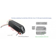 Battery case Hailong-2 for diy ebike downtube battery with 5V USB output(HL-2)