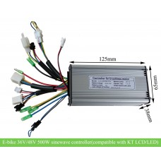 36V/48V 500W KT/Kunteng motor sinewave controller(CON124) compatible with KT LCD/LED meter