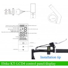 KT LCD4 compact control panel/display 36V/48V for e-bike