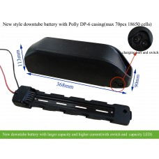 14S 52V ebike downtube battery with larger capacity(new style Polly DP-6 casing)