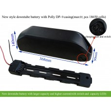 14S 52V ebike downtube battery with larger capacity(new style Polly DP-6/9 casing)