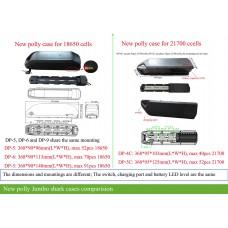 14S 52V ebike polly case(DP/Jumbo shark) battery with smart bluetooth/mobile app