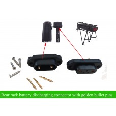 e-bike rear rack battery discharging connector with golden banana pins(pair)