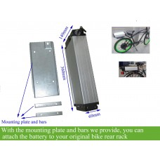 24V Rear rack lithium ion battery for ebike
