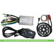 24V/36Volts 250W motor controller(CON621) with L810 LED meter for electric bikes
