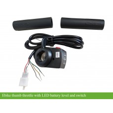 e-bike Thumb throttle/accelerator with battery switch/ battery capacity display