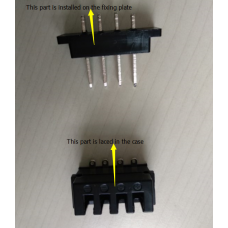 Four pin connector for rear rack battery discharging or frame battery HL1 or HL2 discharging