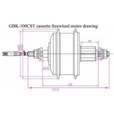 e-bike 36V 250W cassette freewheel motor kit(GBK-100CST)