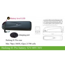 Bafang BBS 36V kit with Hailong 01 Pro(G70) downtube battery 36V10AH~20Ah