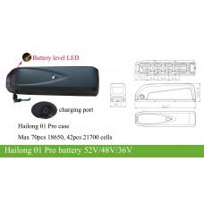 Bafang BBS 36V kit with Hailong G70 downtube battery 36V10AH~20Ah