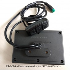 KT/kunteng LCD3 display for 24V 36V 48V E bikes with male Junlei connector