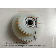 Dual nylon gear sets 27/39T 23/36T for Q100H 36V350W motor repair