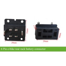 rack battery connector with 6 blade pins(male and female)