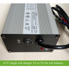 4.2V5A / 4.2V3A Single cell charger for battery repair/balancing