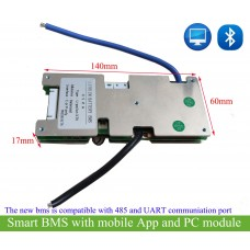 Smart bms for 11S/12S/13S/14S/15S battery with software program(UART/485 COM) or App control