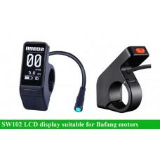 SW102 mini LCD display for Bafang BBS/M400/M620/M420 etc motors(UART protocol)