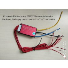 36V lithium battery bms 10S 15A 25A 35A 45A 60A waterproofed with balance