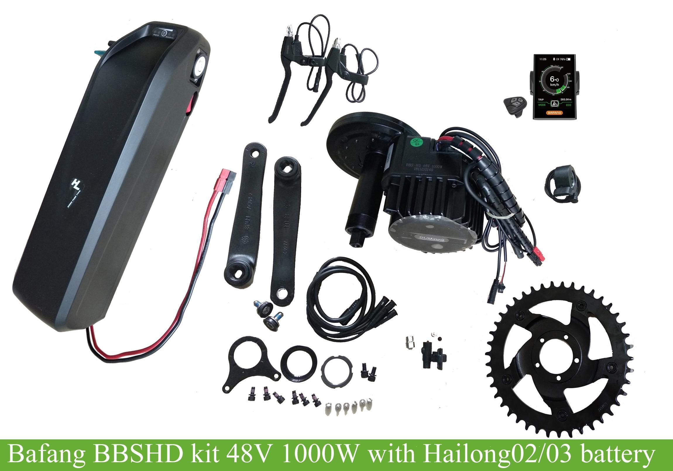 bafang BBSHD kit 48V1000W with 48V/ 52V panasonic hailong03