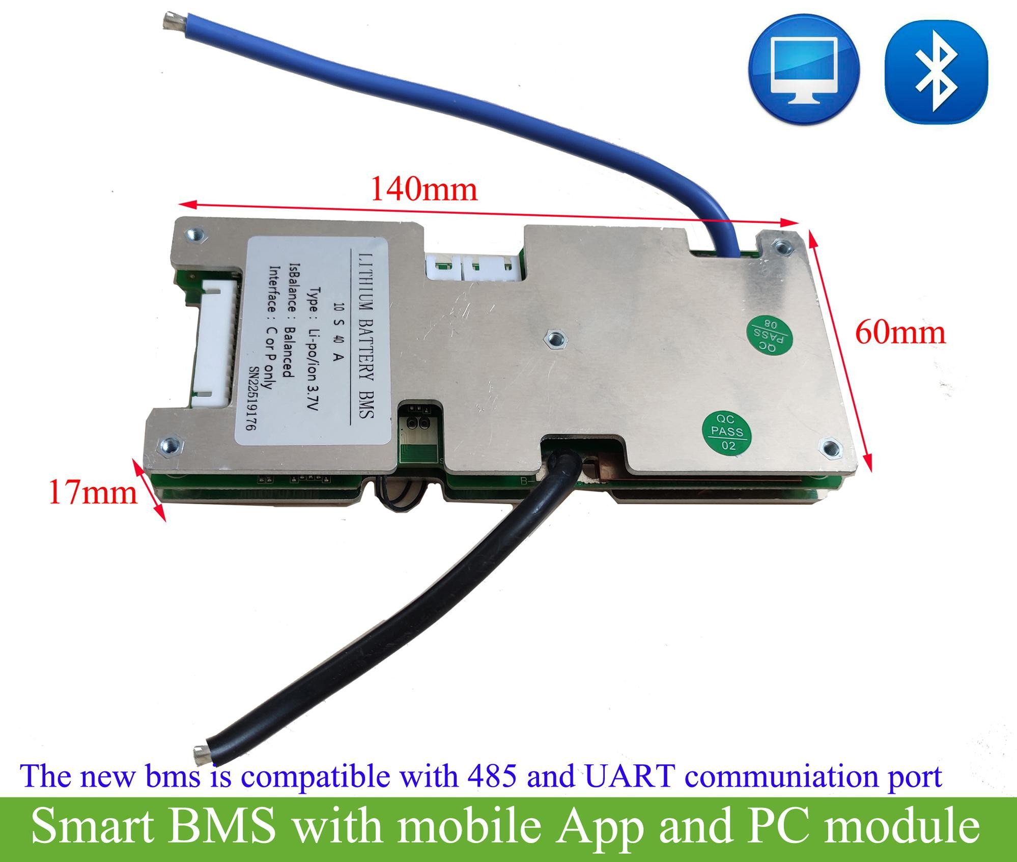 smart lithium battery management system for 7s 8s 9s 10s with